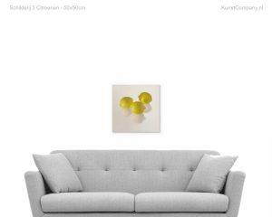 schilderij  citroenen