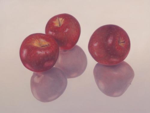 schilderij  rode appels i