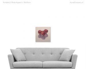 schilderij  rode appels ii