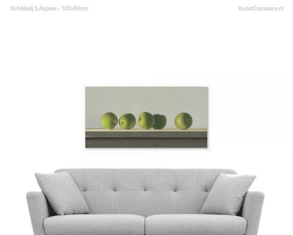 schilderij  appels