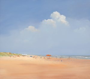 schilderij a day on the beach