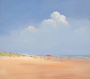 schilderij a day on the beach