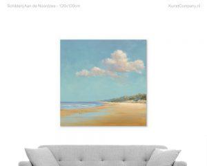 schilderij aan de noordzee