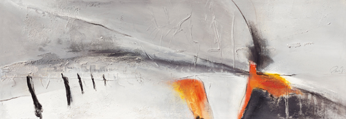 schilderij abstract landschap ii