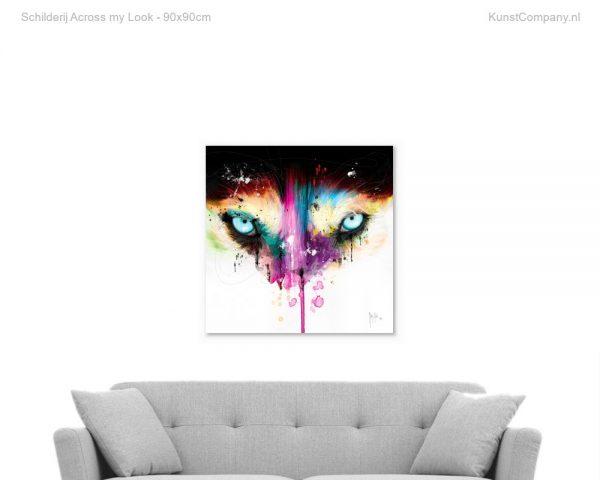 schilderij across my look