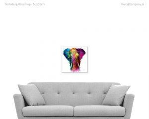 schilderij africa pop