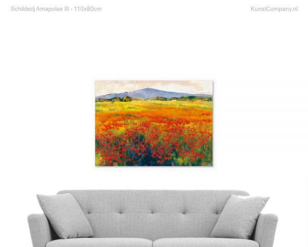 schilderij amapolas iii