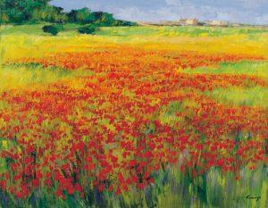 schilderij amapolas iv