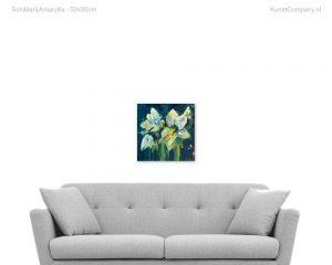 schilderij amaryllis