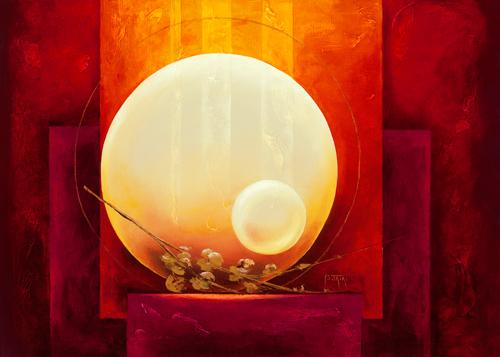 schilderij amour infini