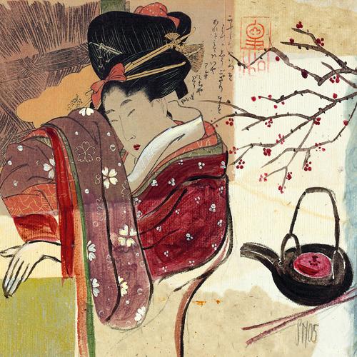 schilderij asia tea