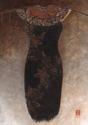 schilderij asian dress i