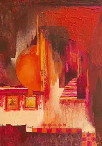 schilderij asian landscape