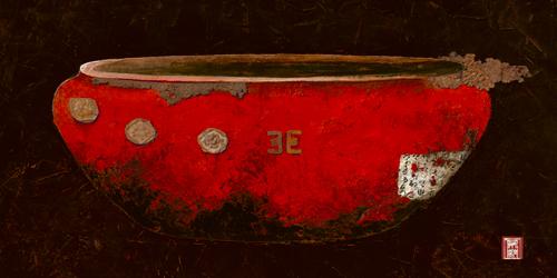 schilderij asian vasque
