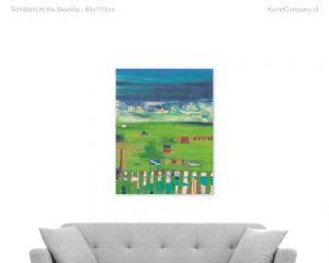 schilderij at the seaside