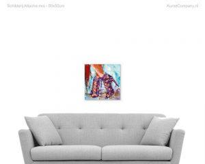 schilderij attache moi