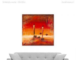 schilderij au coucher