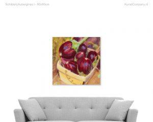 schilderij aubergines i
