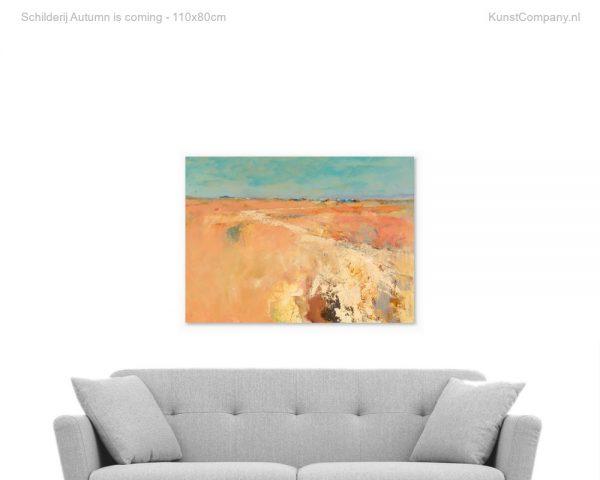 schilderij autumn is coming