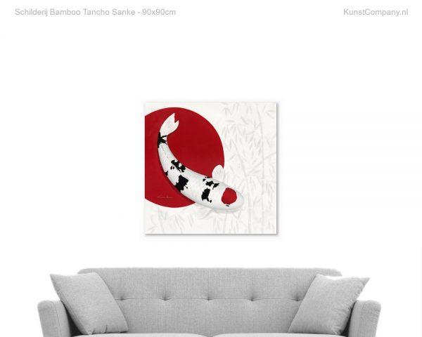 schilderij bamboo tancho sanke