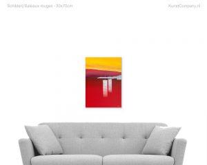 schilderij bateaux rouges