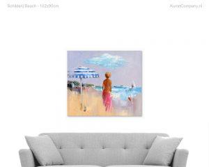 schilderij beach