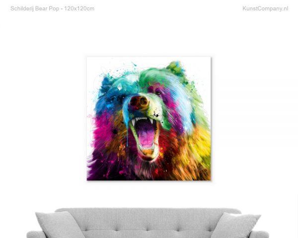 schilderij bear pop