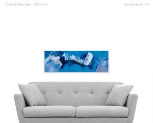 schilderij bleu blanc