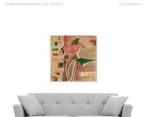 schilderij bloemenanatomie calla