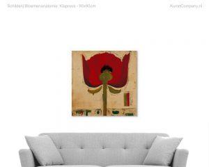 schilderij bloemenanatomie klaproos