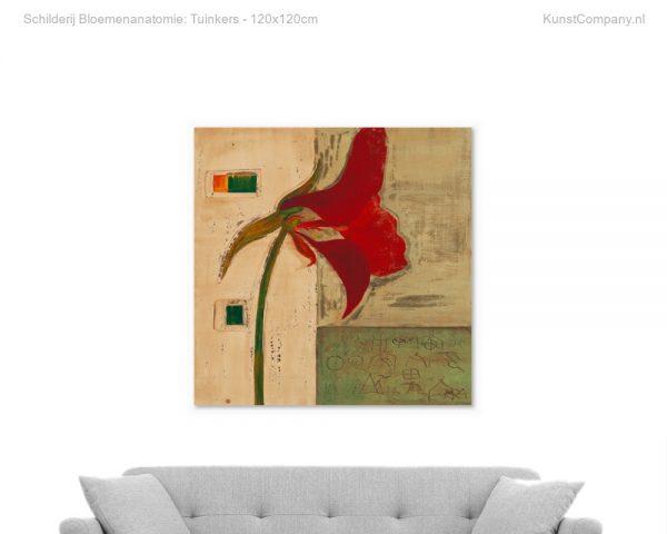 schilderij bloemenanatomie tuinkers