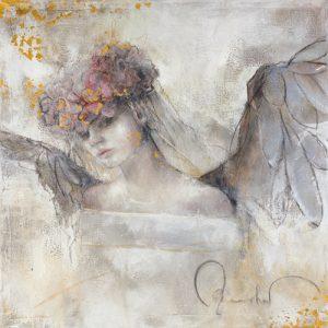 schilderij bloemenengel