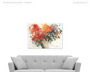 schilderij bloemenpracht