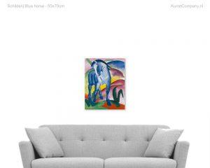 schilderij blue horse