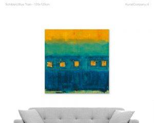 schilderij blue train