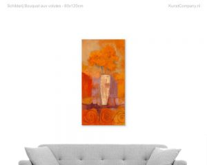 schilderij bouquet aux volutes