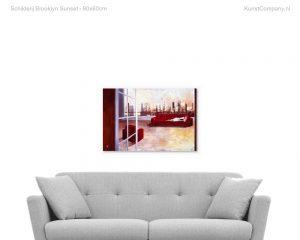 schilderij brooklyn sunset