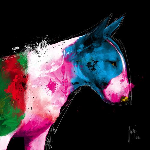 schilderij bull pop