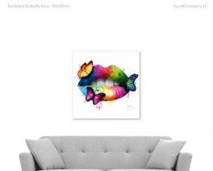 schilderij butterfly kiss