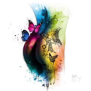 schilderij butterfly tattoo