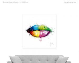 schilderij candy mouth