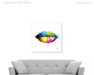schilderij candy mouth