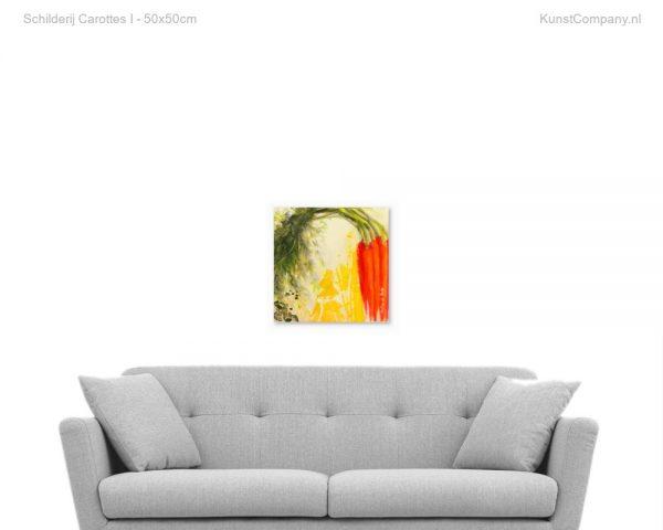 schilderij carottes i