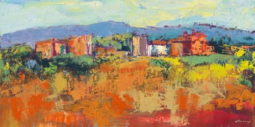 schilderij casa blanca palma