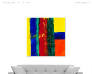 schilderij cest la vie