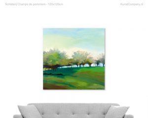 schilderij champs de pommiers