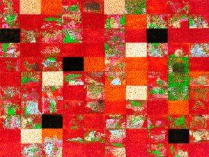schilderij china red
