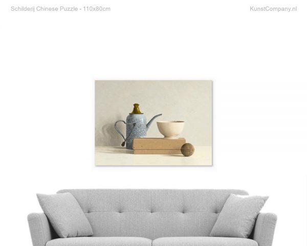 schilderij chinese puzzle