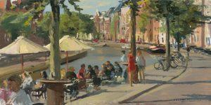 schilderij city view groningen