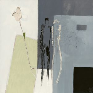 schilderij comme une fleur blanche